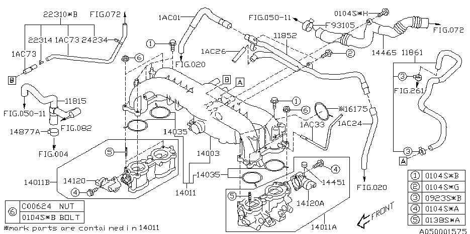 Subaru Legacy  2005 Subaru Legacy Gt Vacuum Diagram