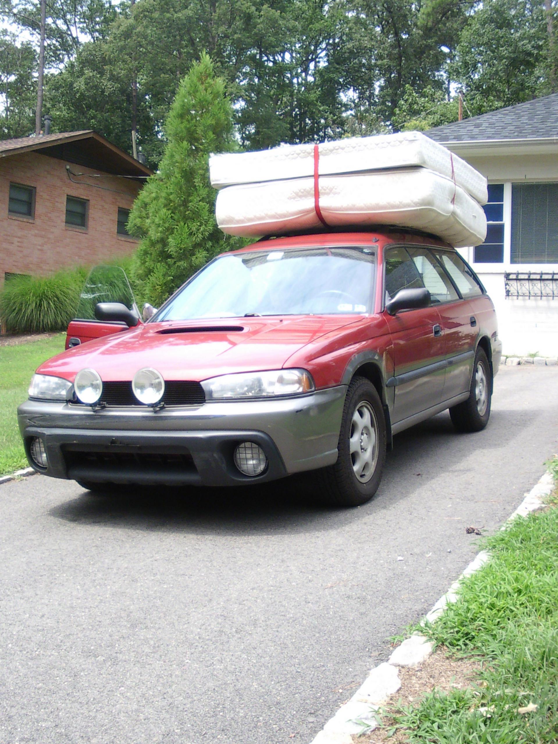 Can a 97 OBW carry a queen mattress & boxspring Subaru