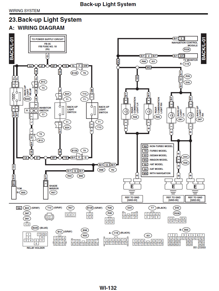 which color wires are what for reverse lights? subaru timer switch gm tbi wiring wiring diagram