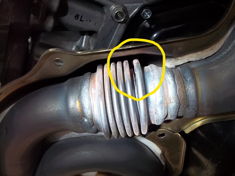 Exhaust Pipe Crack 2016 Outback 2.5i - Subaru Outback ...