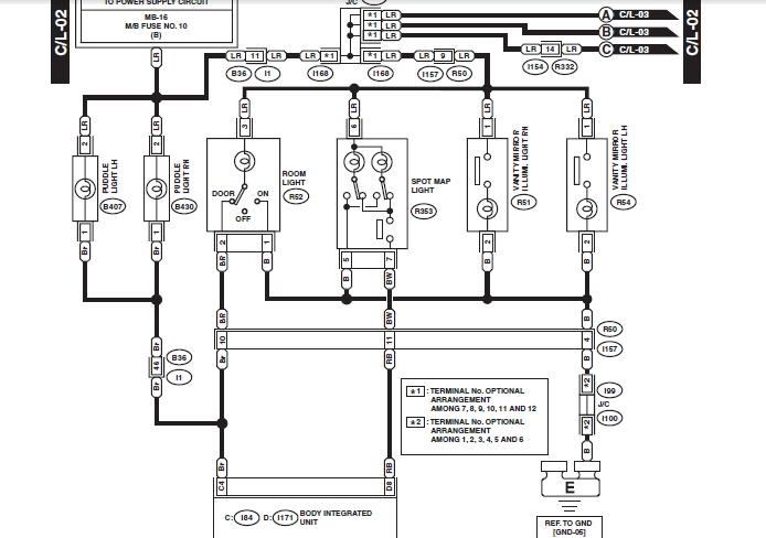 2011 subaru outback headlight wiring diagram interior lights  clock  key fob  auto on off headlight sensor not  interior lights  clock  key fob  auto