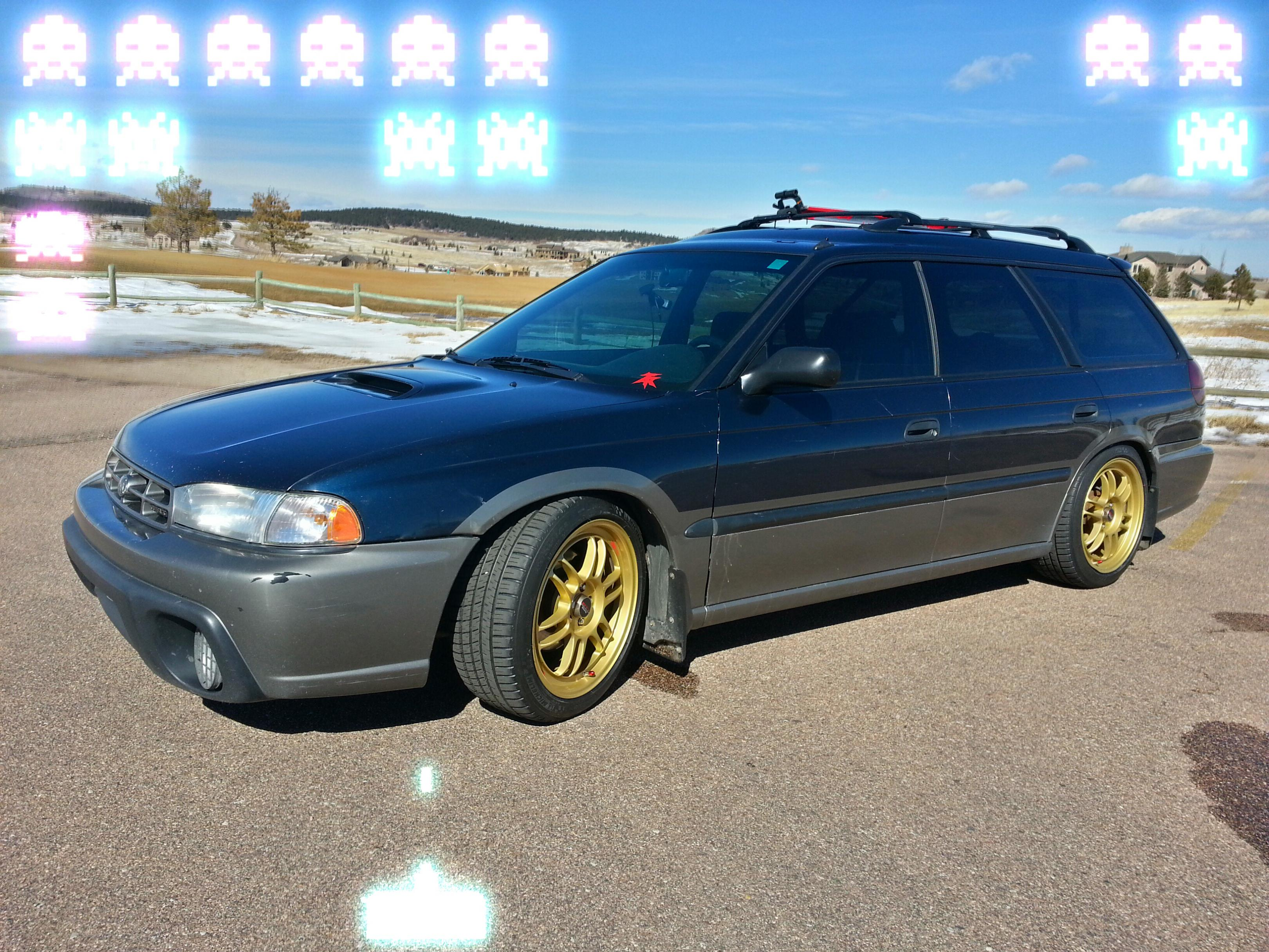 my 1998 outback, lowered on coilovers. - subaru outback - subaru