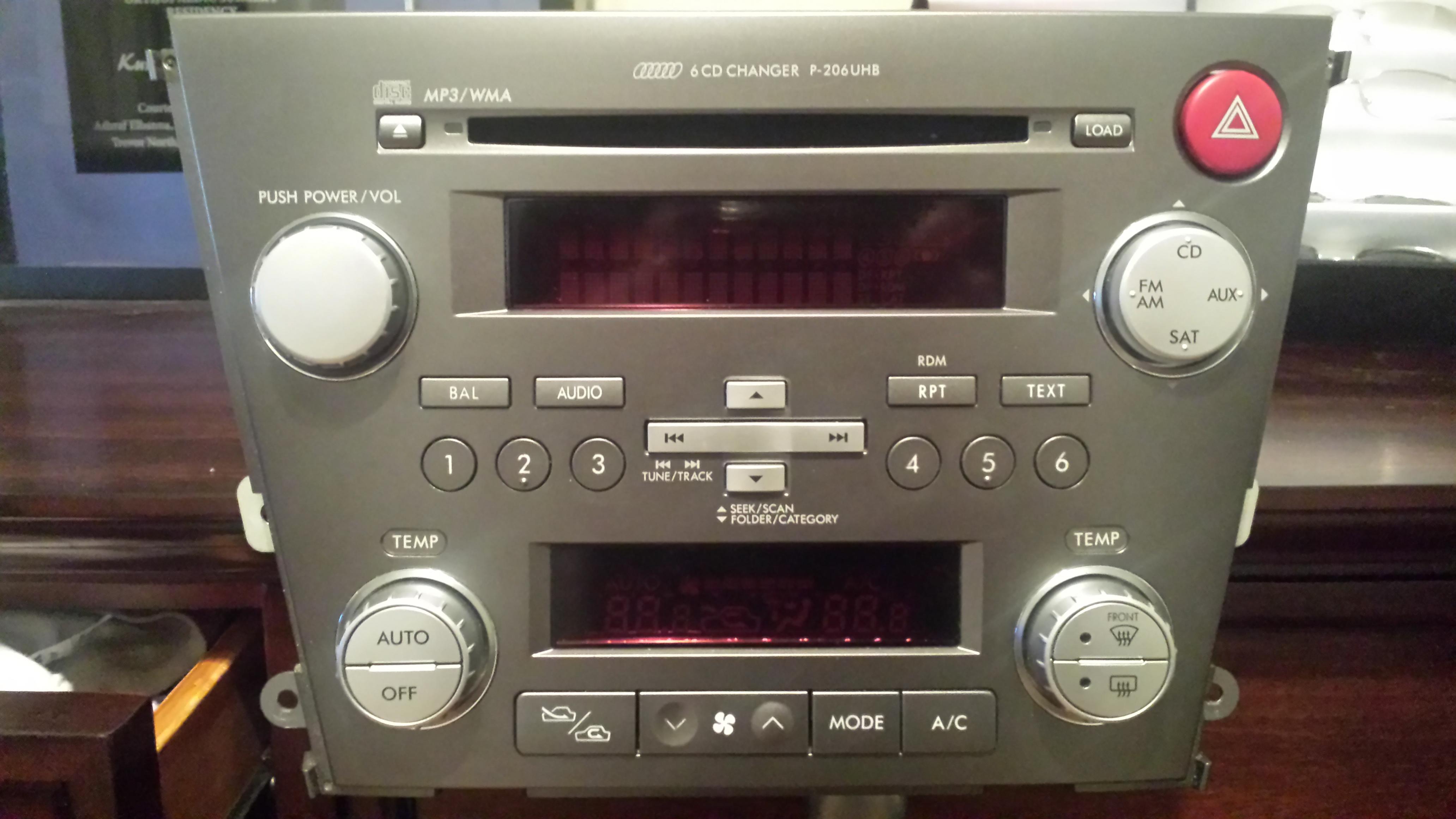 2005 subaru outback xt stereo
