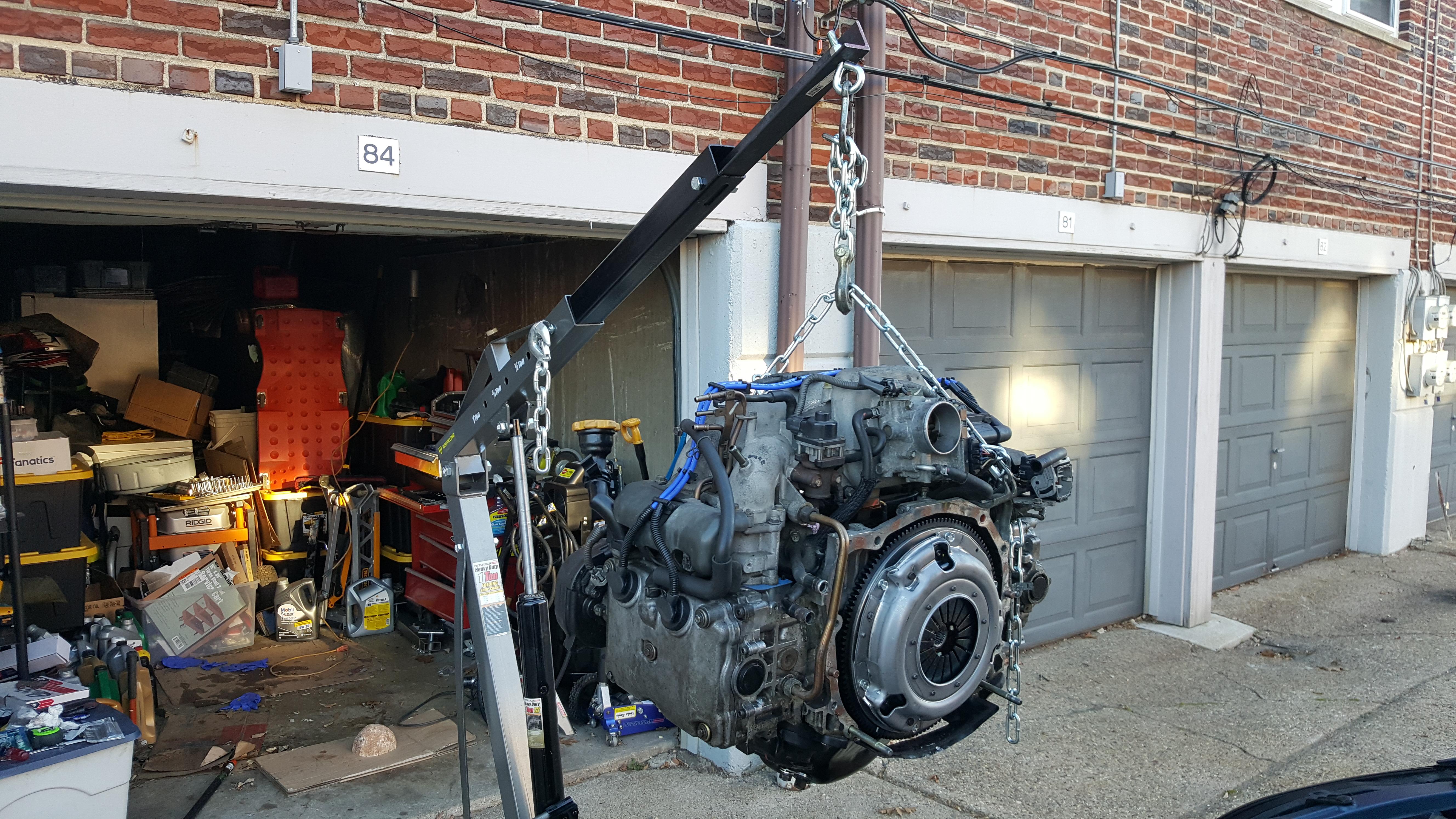 Harbor Freight 1 Ton Engine Hoist Modification | Subaru