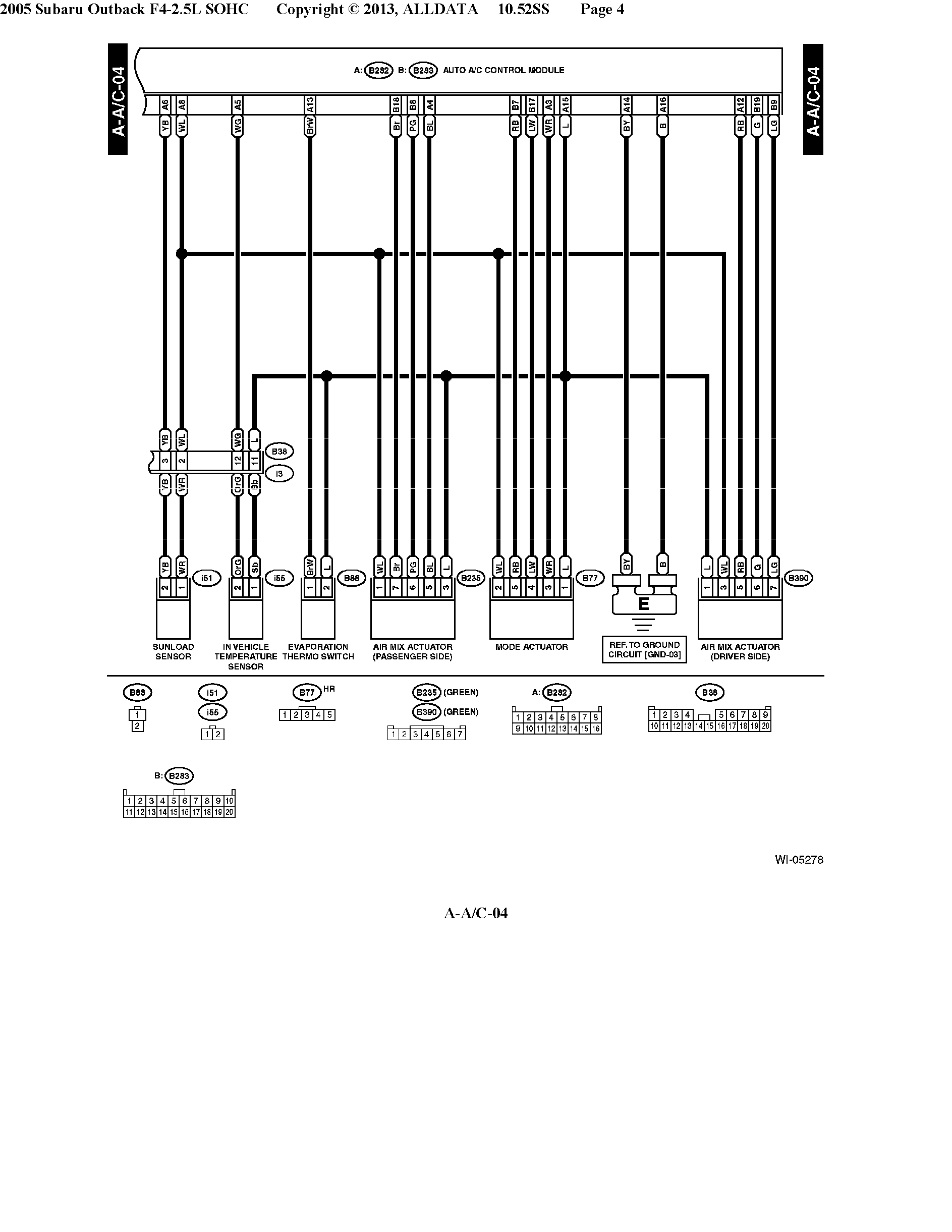 2007 Subaru Outback Relay Diagram Schematics Parts 05 H6 A C Compressor Cluth Not Getting 12v