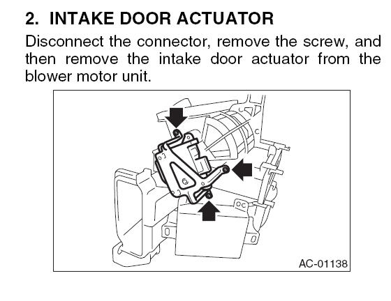 D Recycled Air Clicking Actuator Removal
