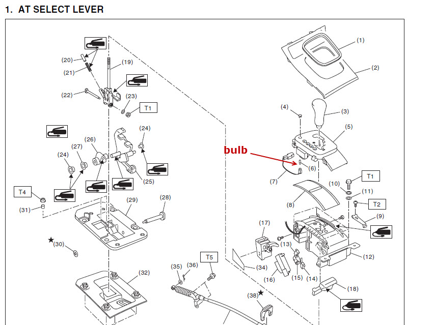 54161d1380913809 need replace gear shifter light 2005 outback bulb need to replace gear shifter light on 2005 outback subaru 1998 Subaru Legacy Wiring-Diagram at aneh.co
