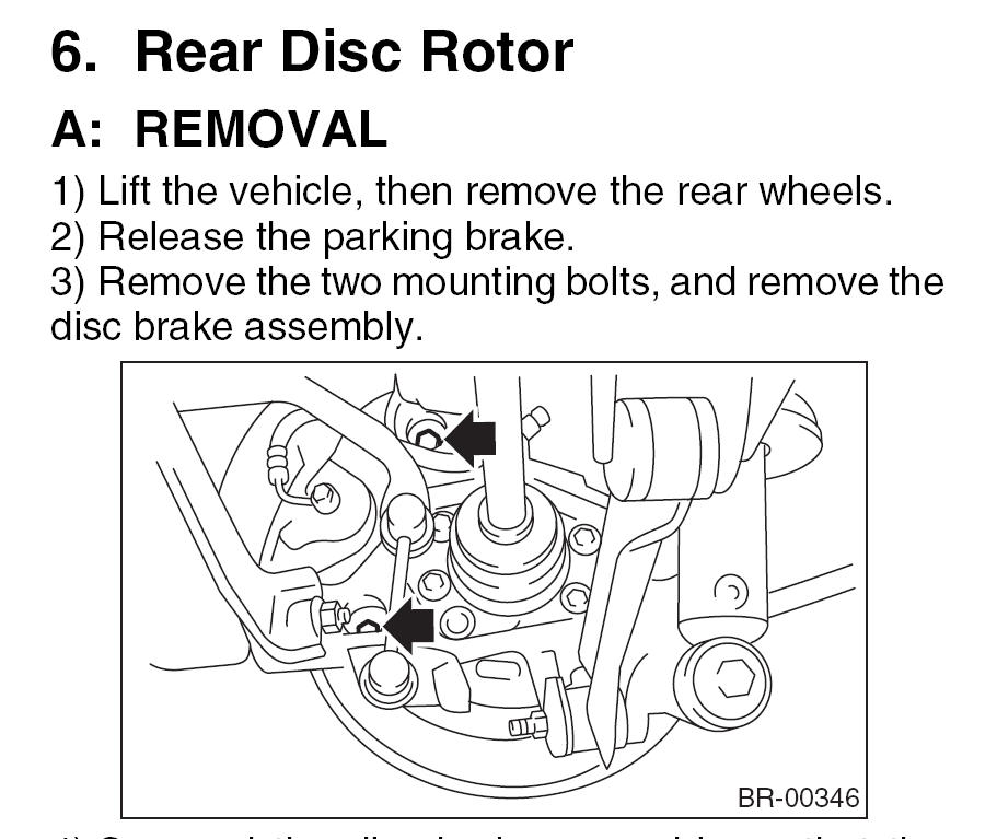 rear brake caliper block removal on 2005 - page 2