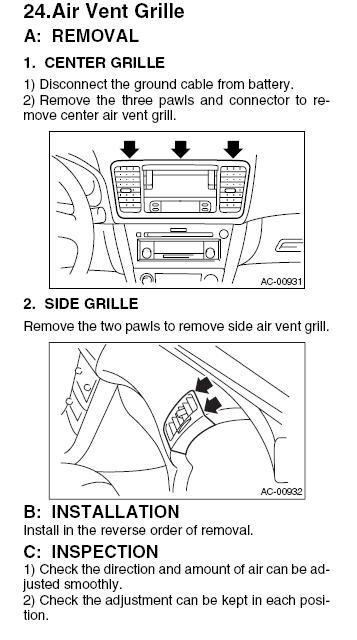 Information Display - Subaru Outback