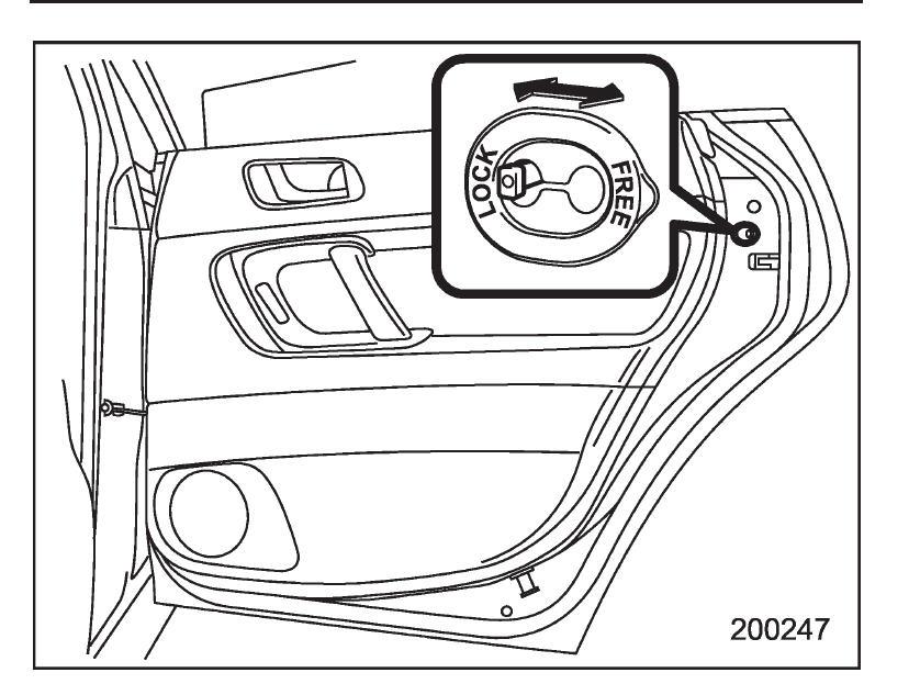 2005 Outback Rear Passenger Door Mechanism Snapped Child