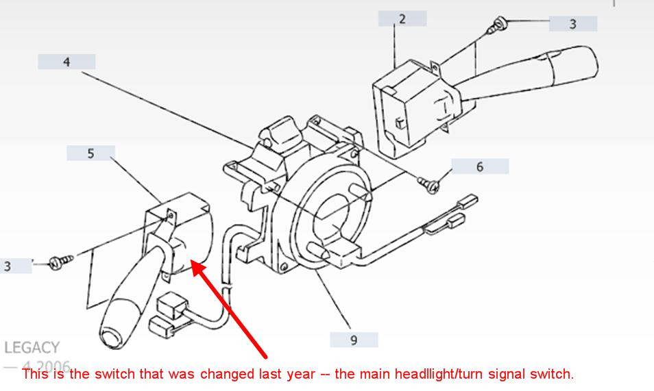 u0026 39 01 outback rear tail light switch - page 2