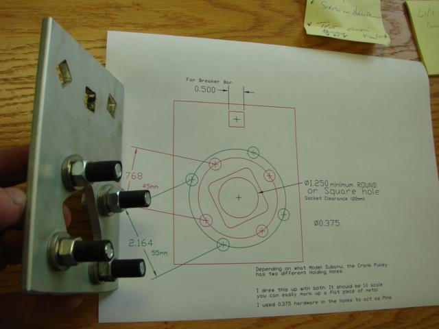 Crank pulley hold tool - Subaru Outback - Subaru Outback ...