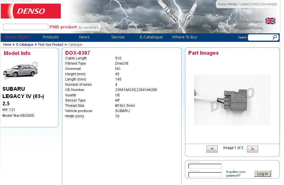ej front o sensor bank part no subaru outback click image for larger version denso af sensor png views 3551 size 252 6