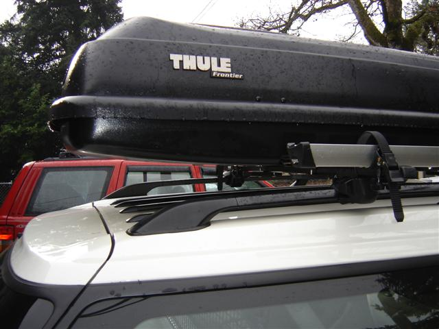 Subaru Outback Roof Rack >> Cargo Box w/Thule Rack. How have you all installed with clearance for rear hatch? - Page 2 ...