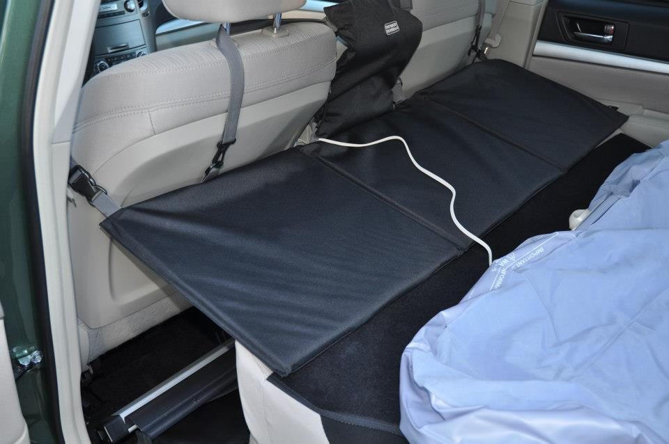 sleeping camping in car setup tips subaru outback subaru