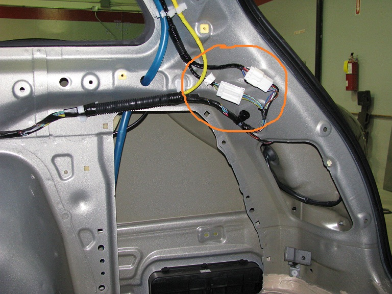 Replace outback hatch wiring harness subaru