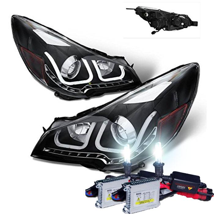 Aftermarket Headlights W Led S And U Effect Subaru