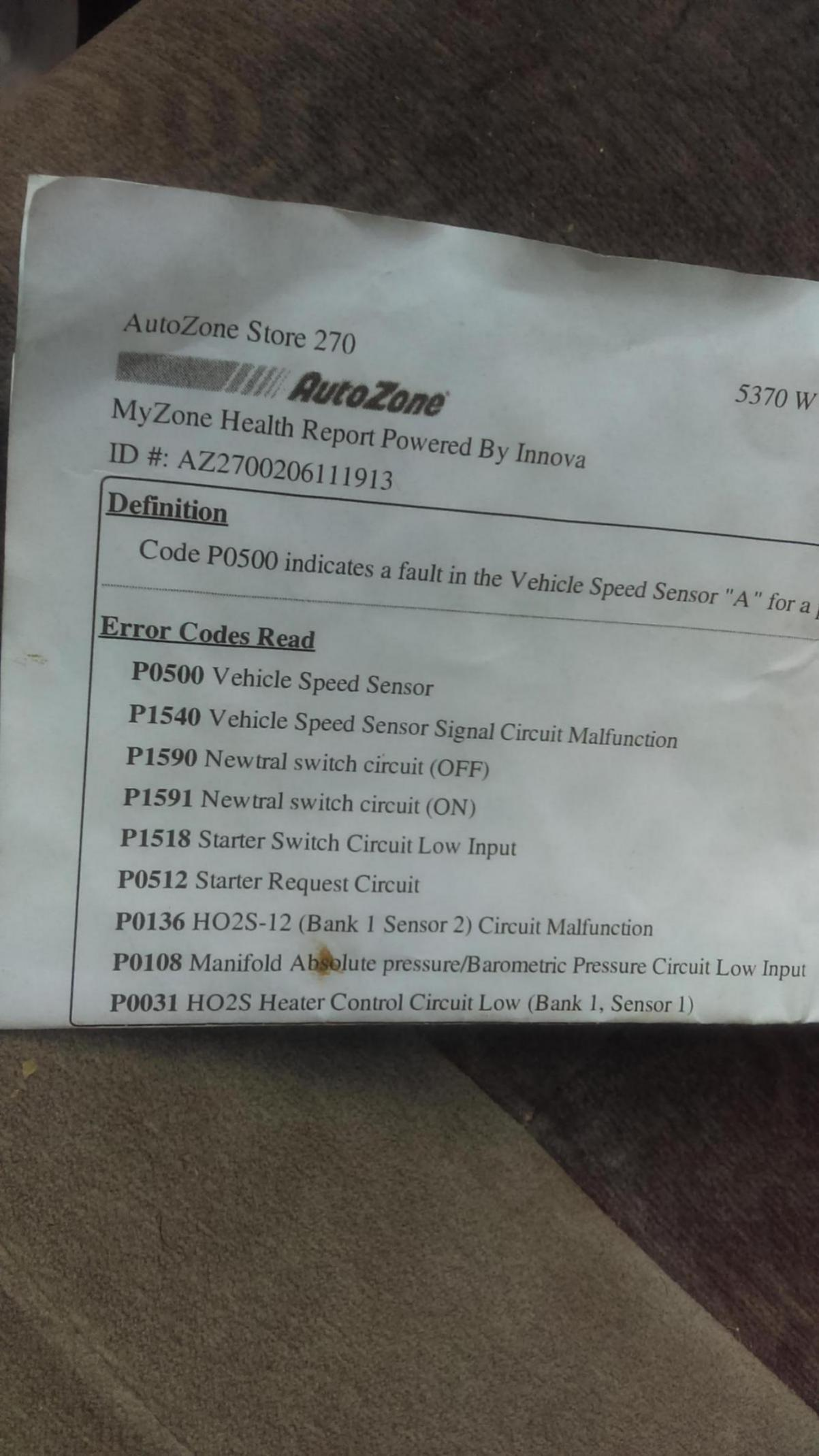 P0502 Vehicle Speed Sensor Issues, please help | Page 2 | Subaru