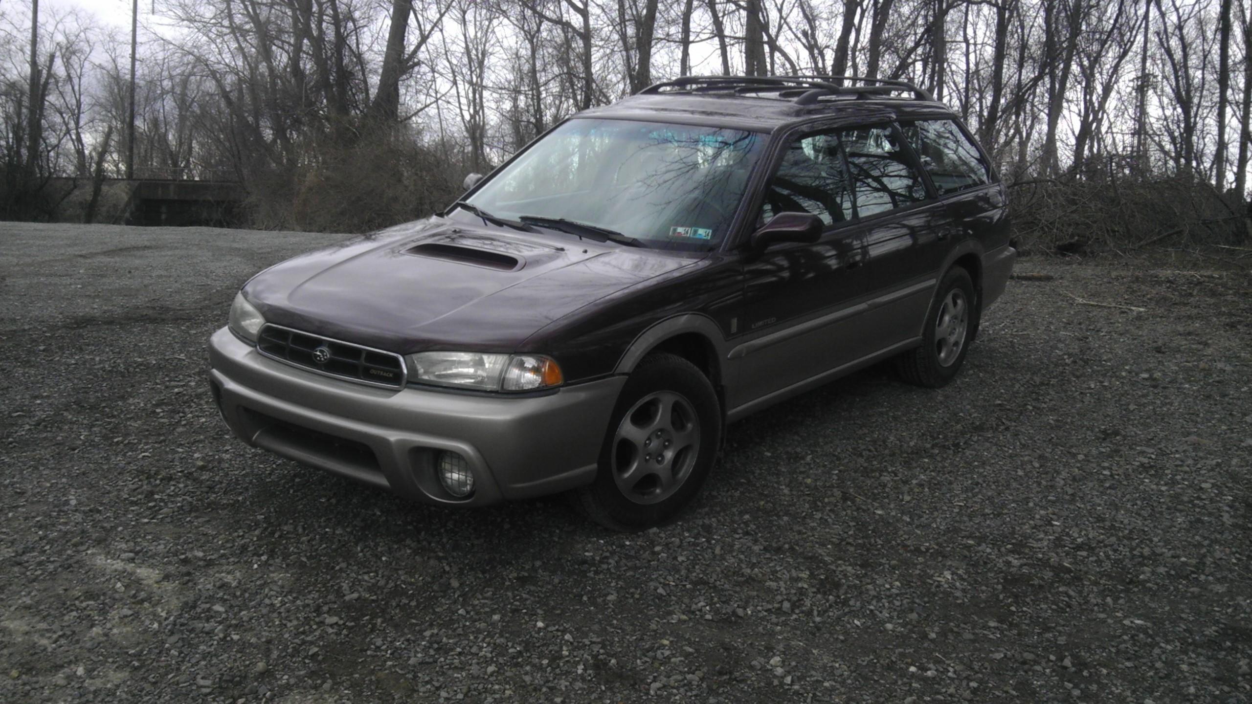 Maroon 1999 Subaru (Legacy?) Outback Limited rims - Subaru ...