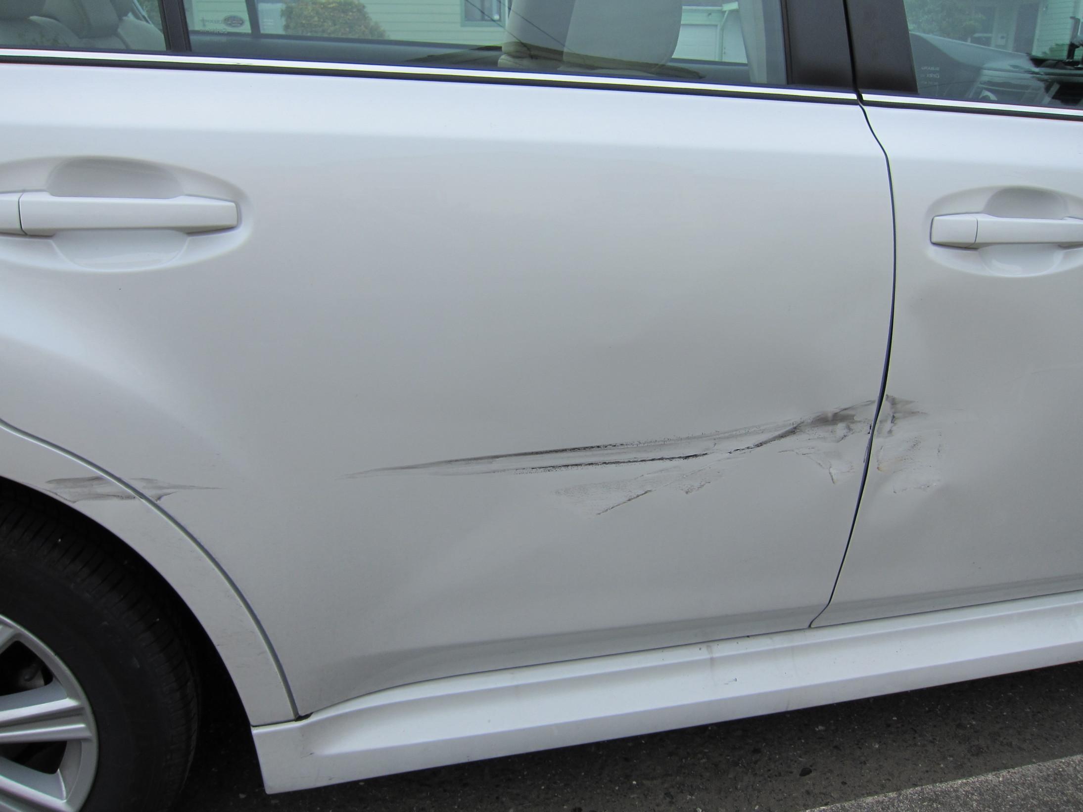 fender bender doors will need repair any tips subaru