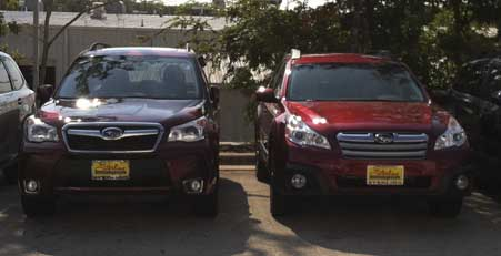 Difference Subaru Outback and Forester