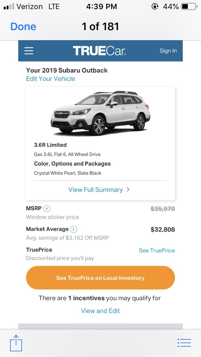Msrp Invoice Purchase Price Thread Page 362 Subaru Outback Forums