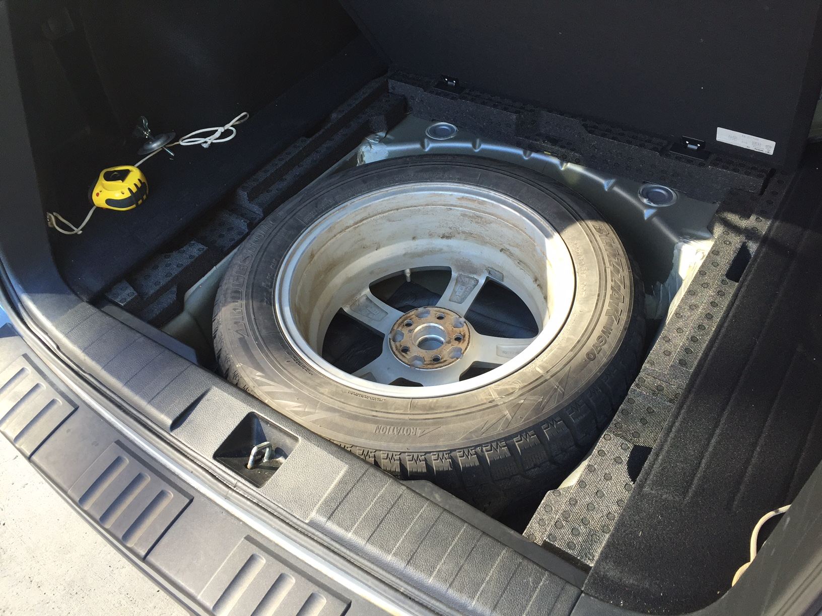 I fit a full size spare in my 2014 Outback! - Subaru Outback ...