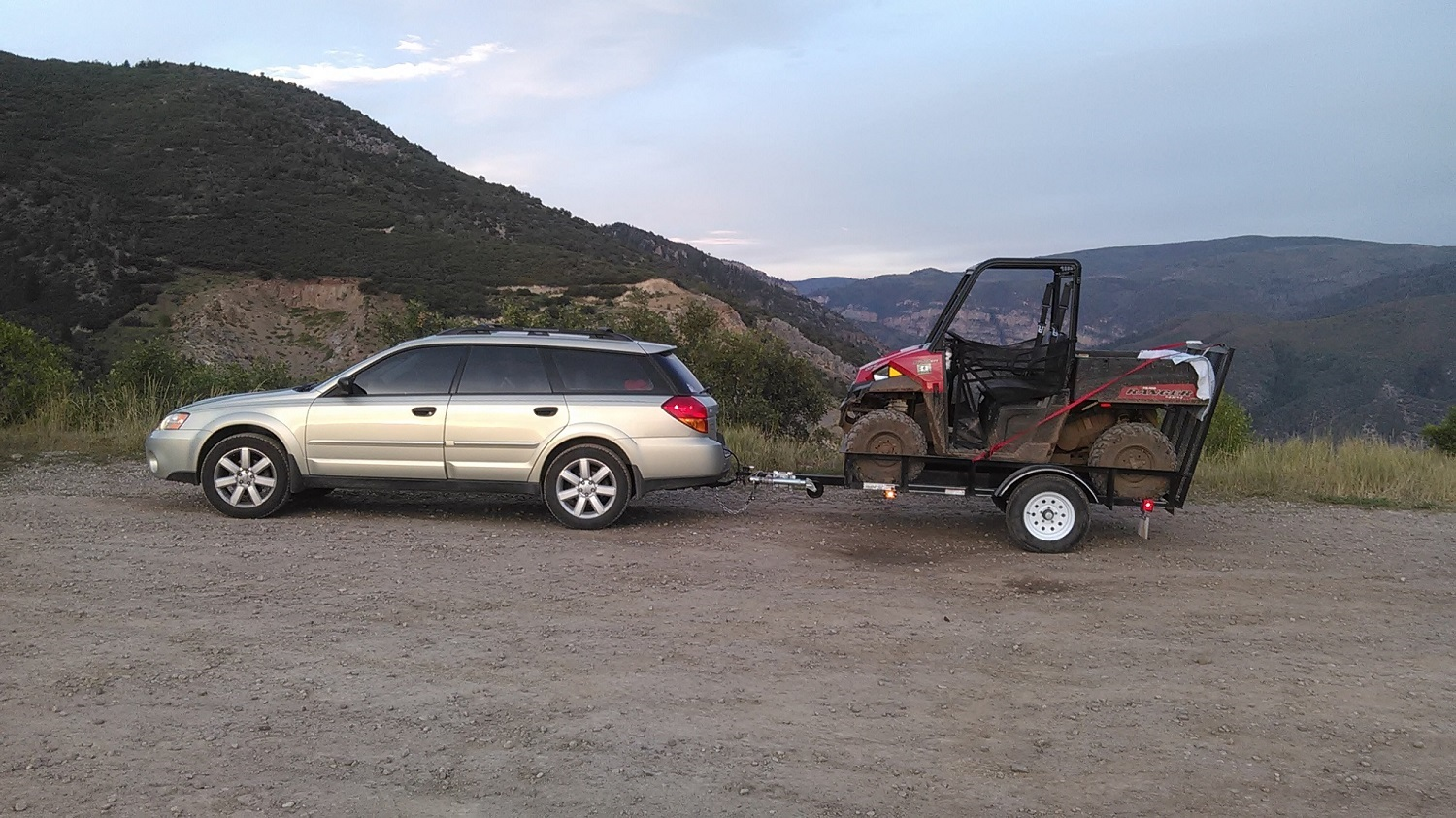 towing a small trailer with a 2002 outback  2 5l  4 cyl