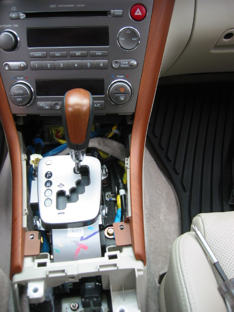 05 Obxt At Center Console Removal Subaru Outback