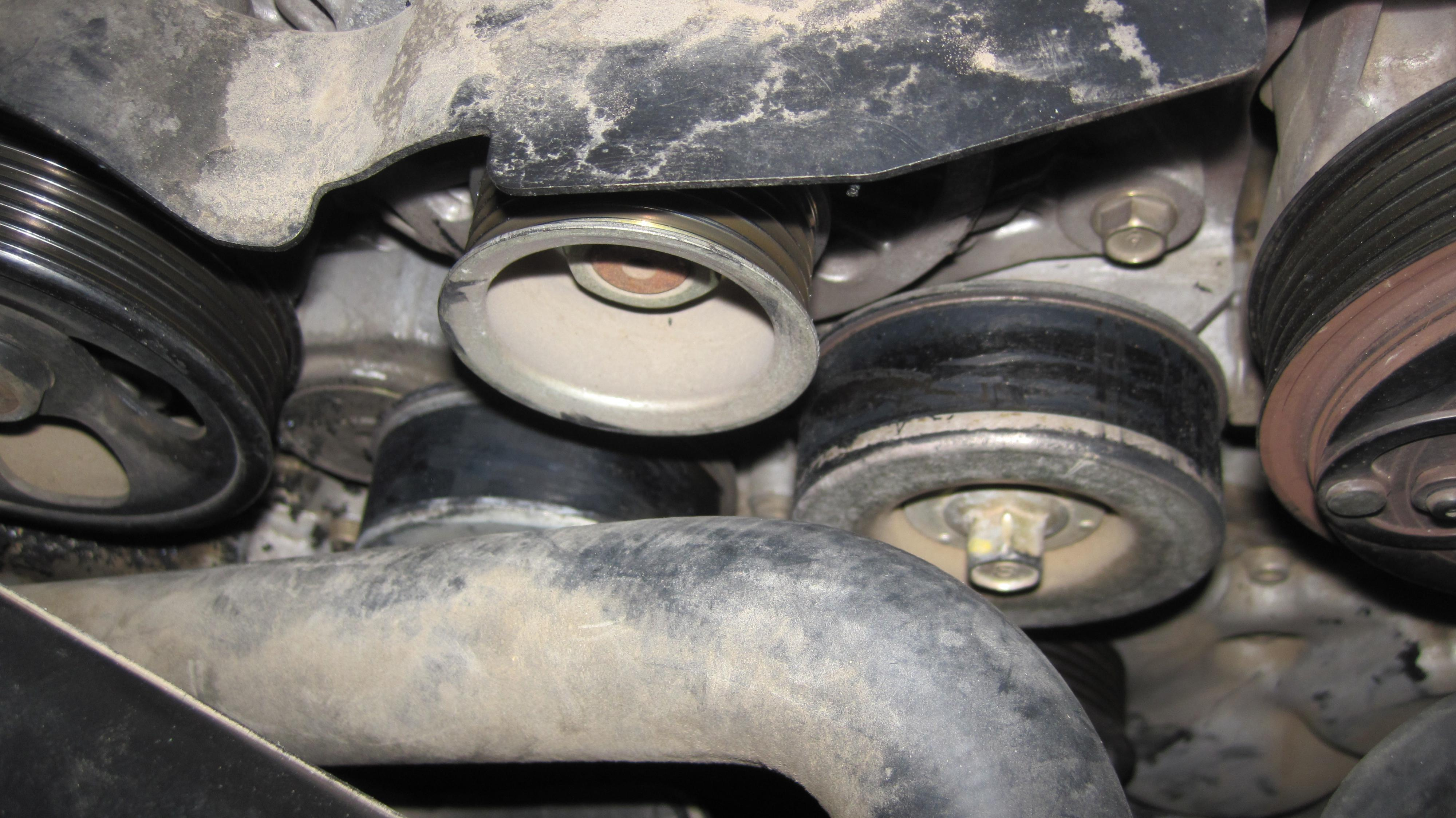 Nissan Pathfinder Belt Routing Diagram together with 163cc Serpentine Belt Diagram Route 2005 Dodge Ram 1500 also Epdm Belt Wear Diagnosis together with 39708 H6 Serpentine Belt Pulley Tensioner Replacement 2 together with Ford 302 Short Water Pump. on serpentine belt tensioner pulley
