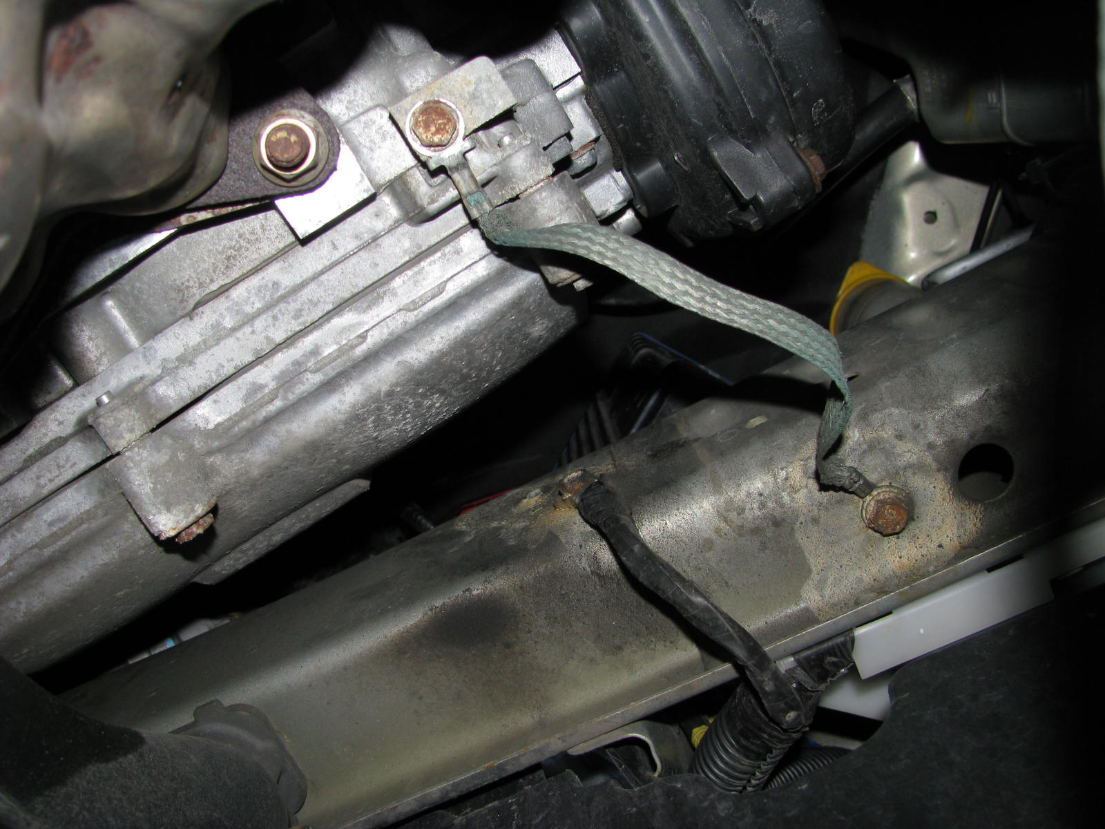 2008 2 5i Ground Strap Hanging By One End Subaru