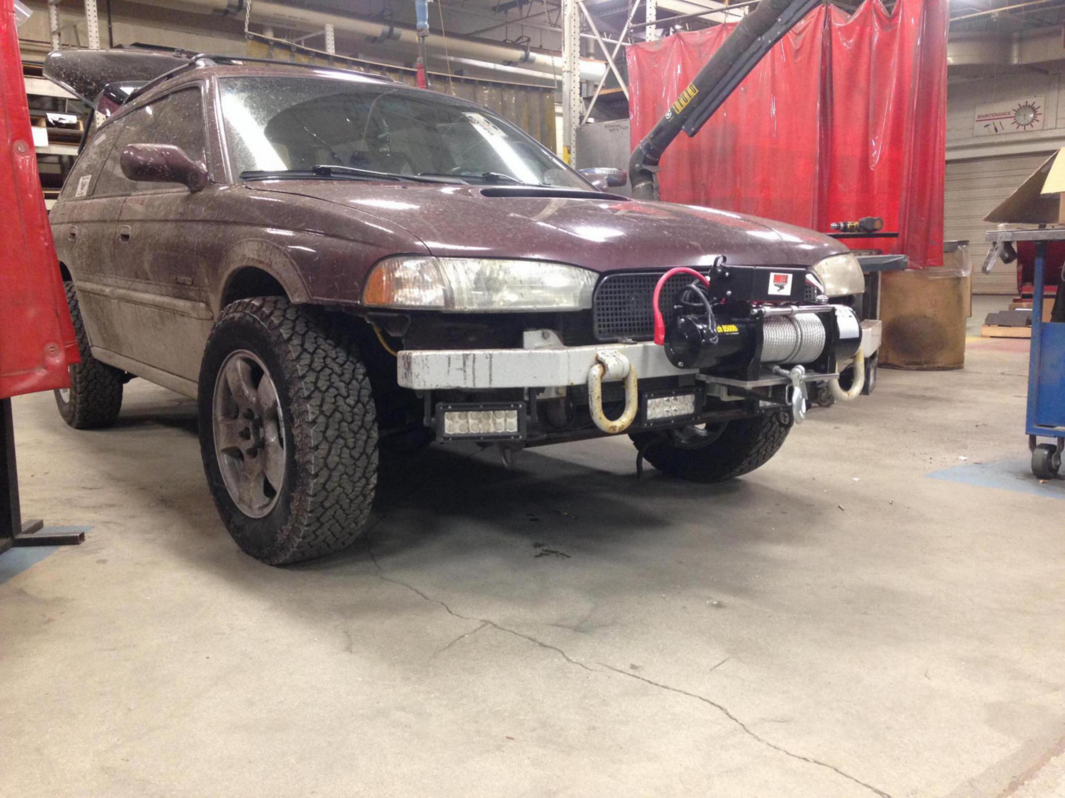 custom bumper and lifted 1999 - subaru outback - subaru outback forums