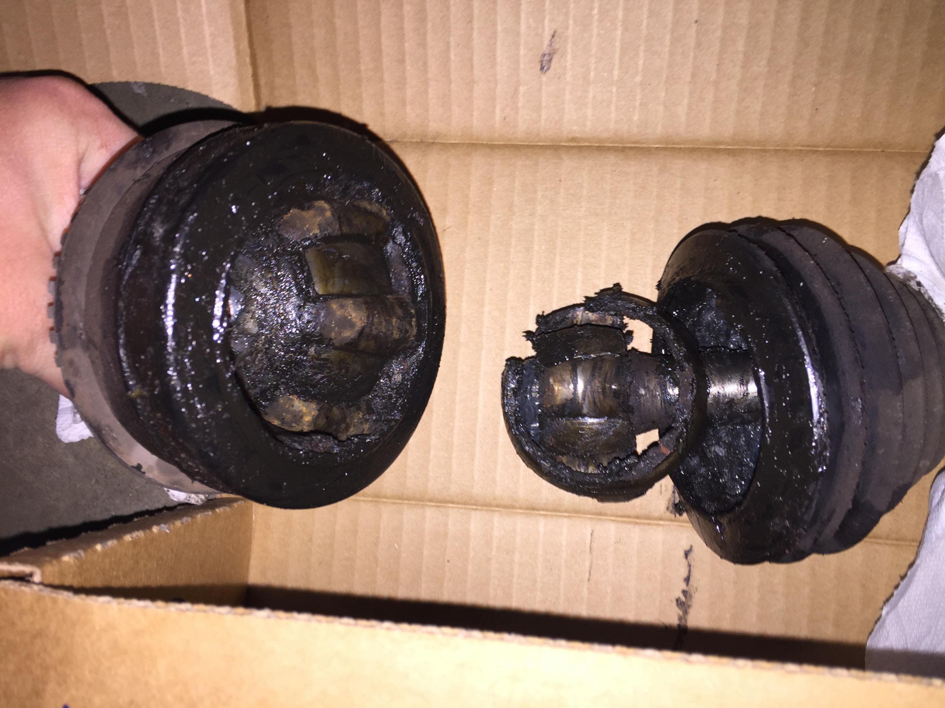 exploding cv joint - subaru outback