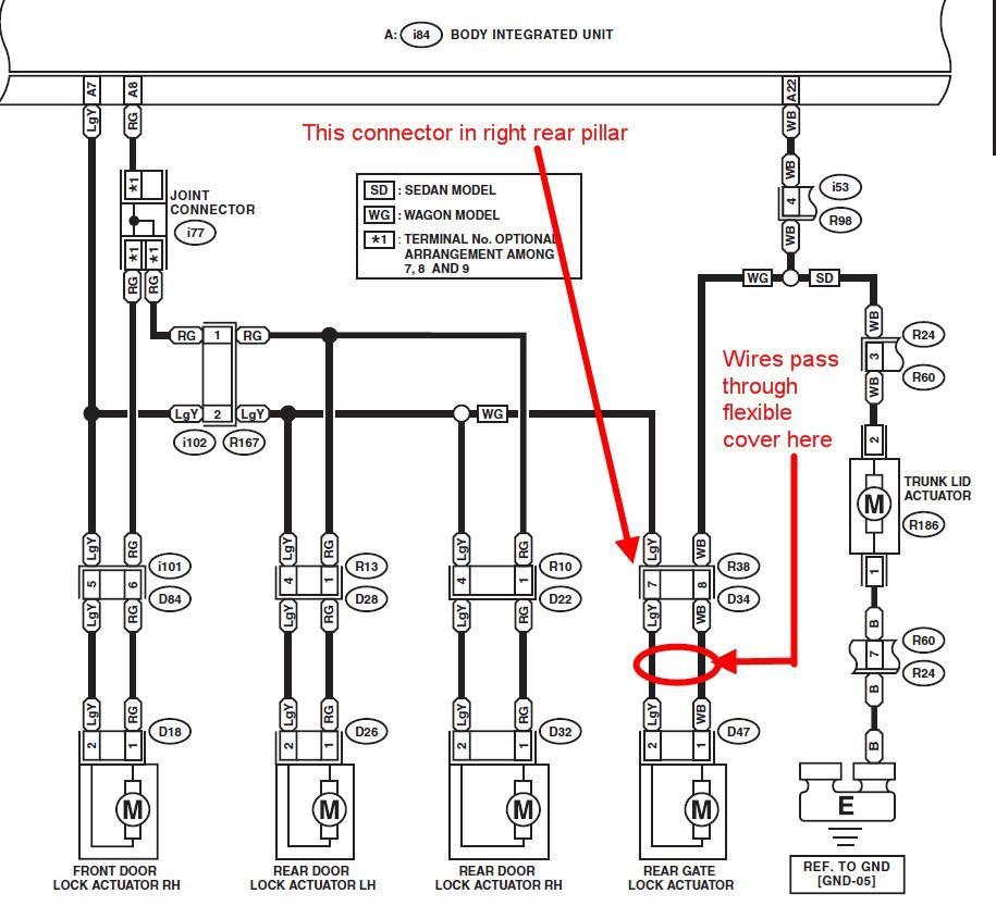 Lock Actuator Wiring Diagram