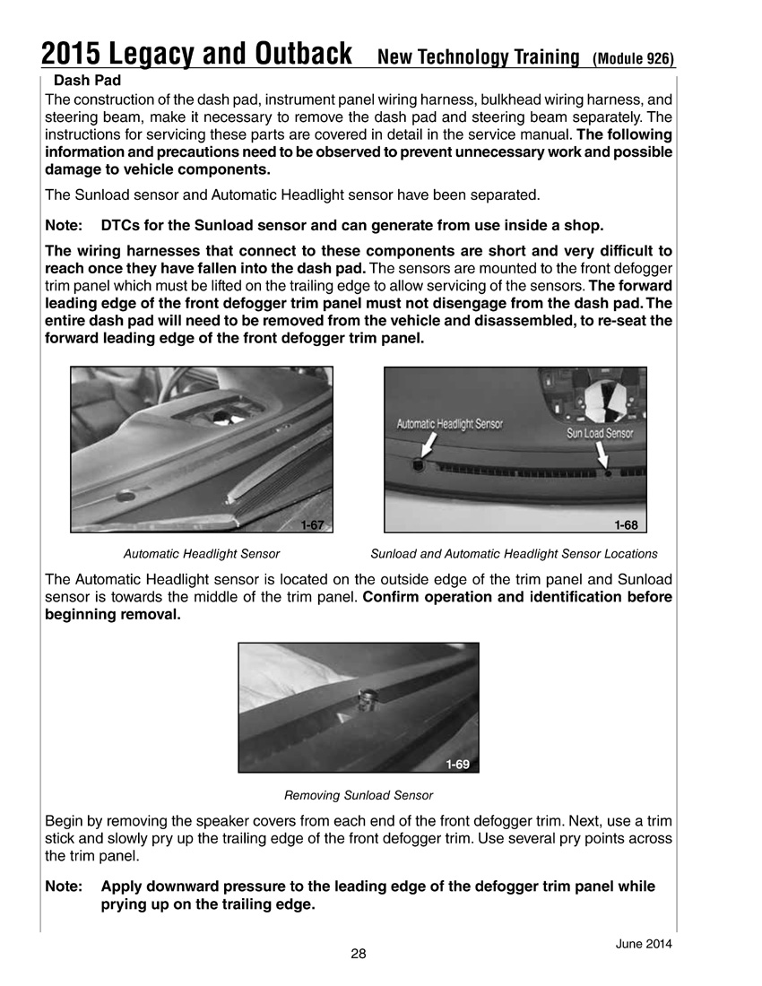 Annoying Rattle From Dashboard On Rough Roads Subaru Outback 1998 Owners Manual Click Image For Larger Version Name New 2015 Technology Training028 Views 403