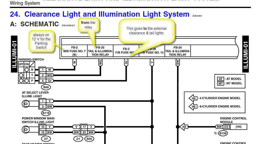 Tail Lights, Marker Lights, License Plate Lights Not ...