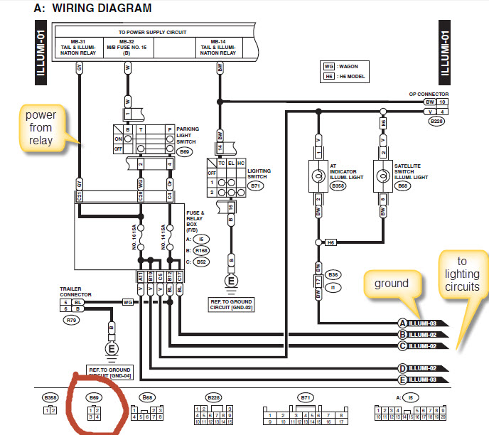 2000 subaru outback wiring diagram images wiring harness also wiring lights not working also ford brake