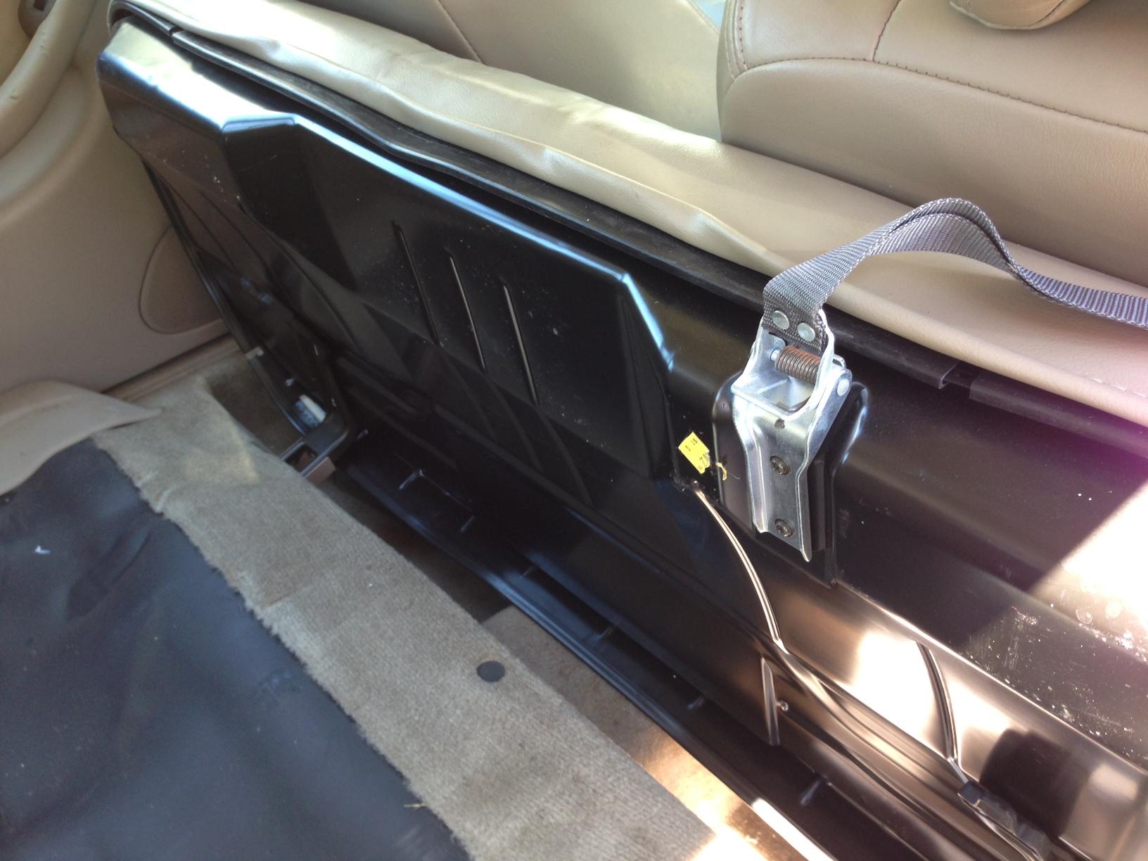 2000 OB Legacy folding back seat release - Subaru Outback ...