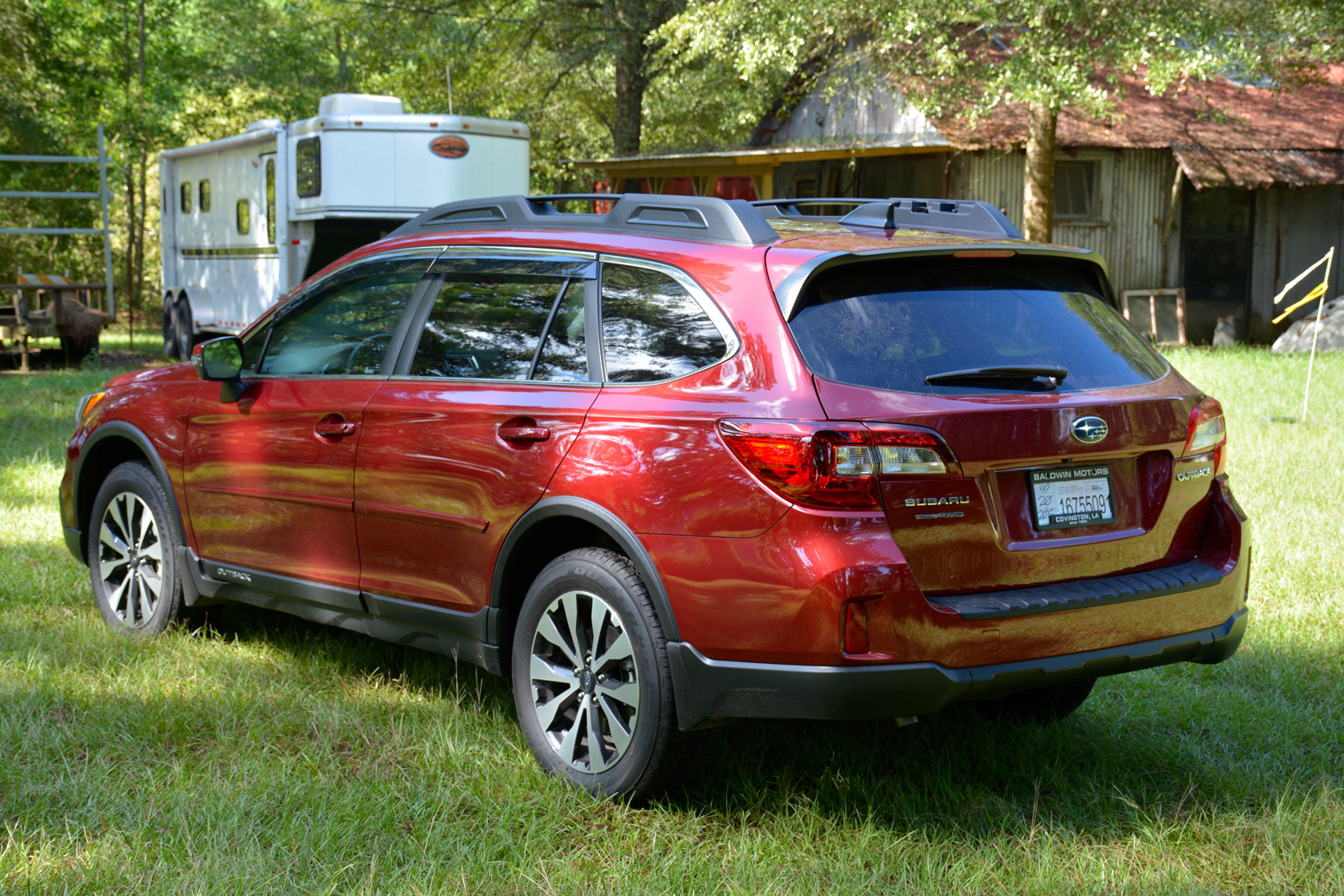 subaru outback 2016 red. click image for larger version name rear leftjpg views 3209 size subaru outback 2016 red 1