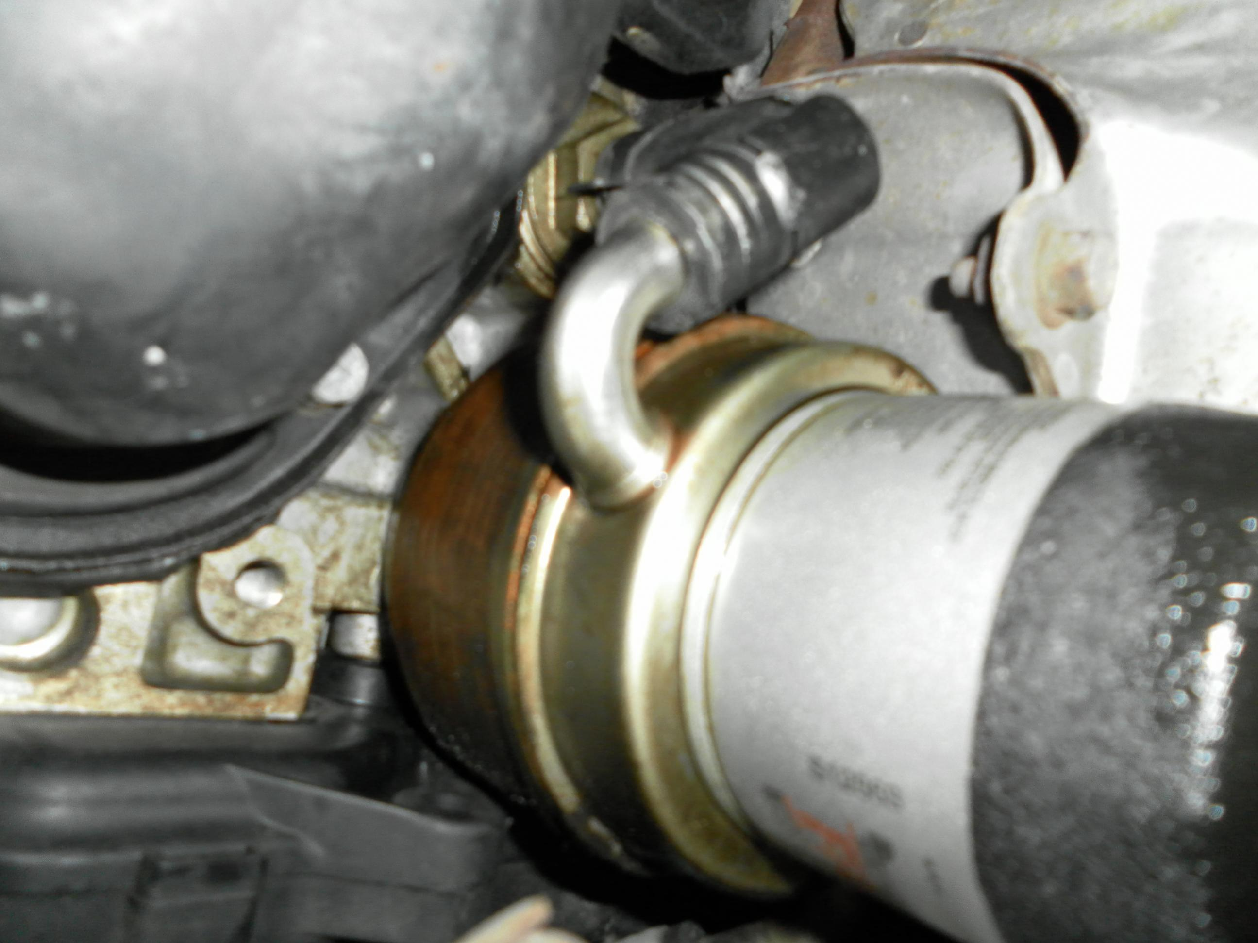 diy  how to replace the oil cooler gasket  oil filter leak