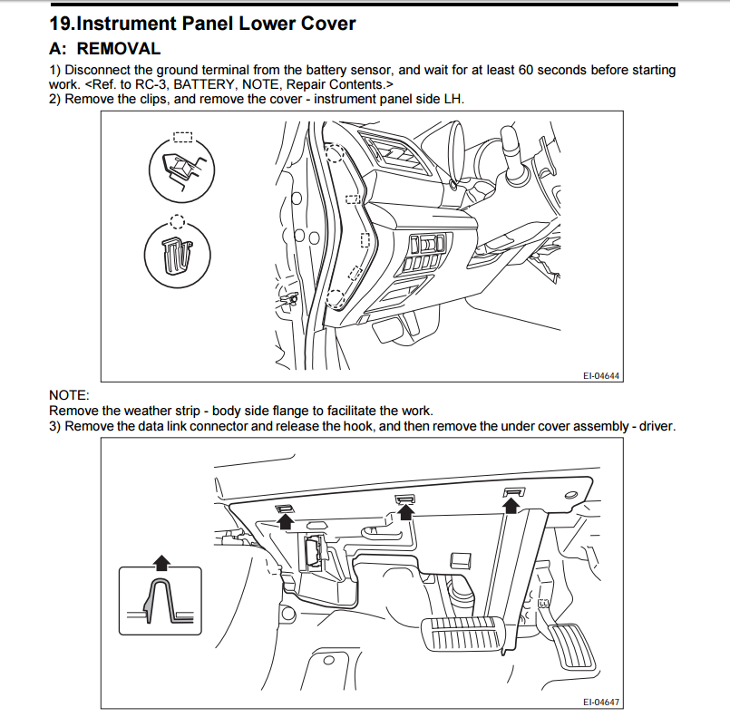 removing panel by interior fuse box subaru outback subaru click image for larger version screenshot 20 png views 549 size 151 3