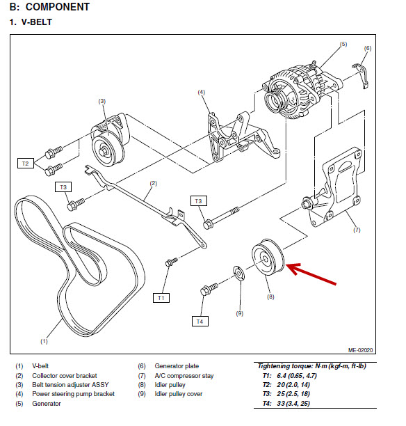 tribeca belt diagram for a 08 h6 tensioner bearing# - page 16 - subaru outback - subaru ... on a volt gauge wiring diagram for a vw