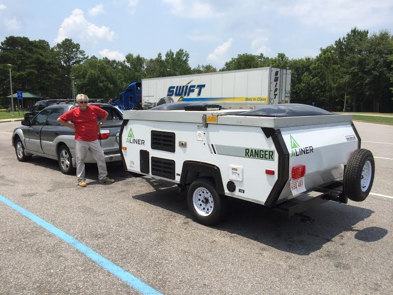 Towing a pop up camper with 2013 Subaru Outback 2.5i ...