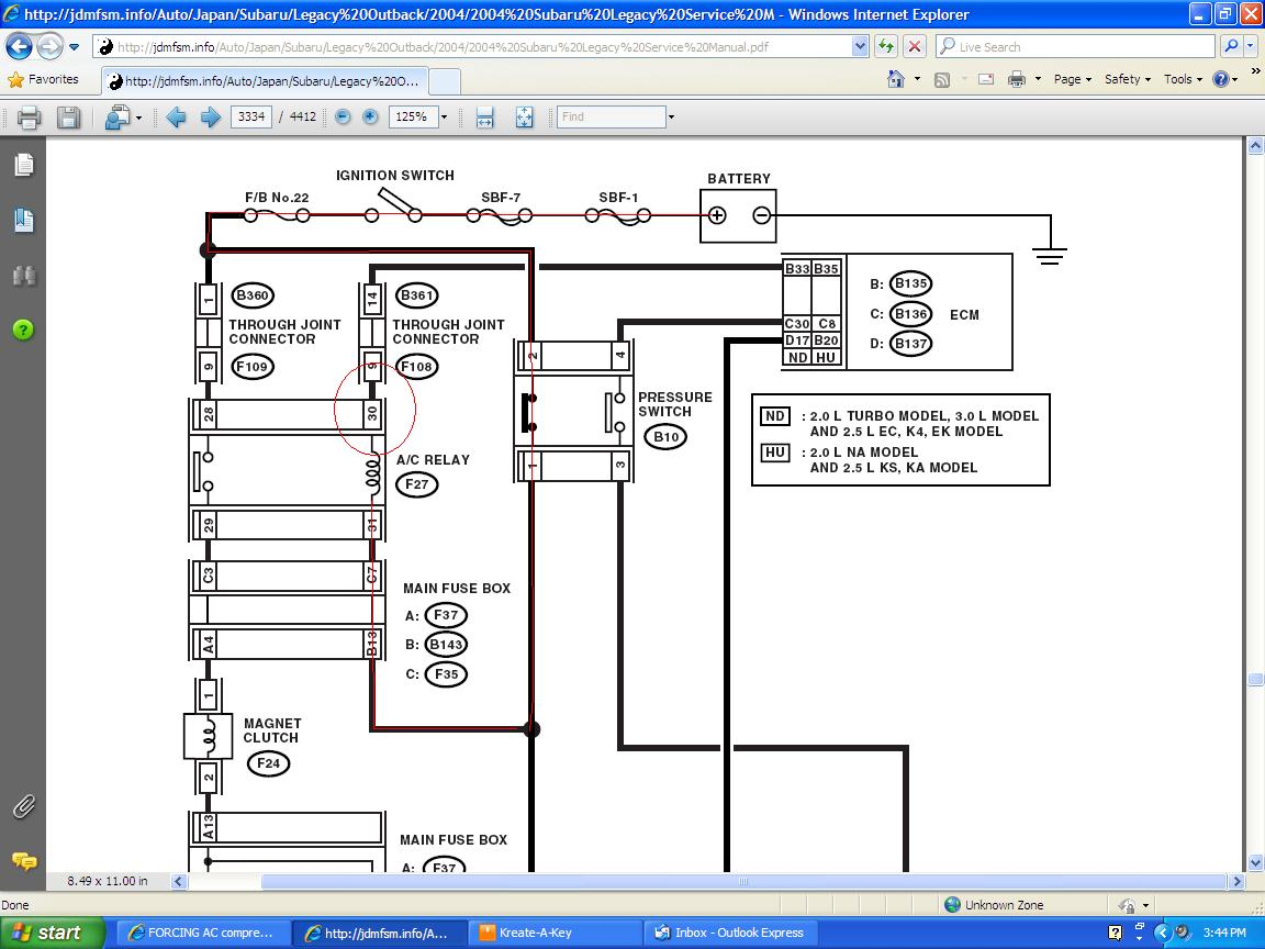 2002 Subaru Outback Air Conditioning Wiring Diagram Diagrams Headlight Harness Forester Conditioner 2010 Fuse