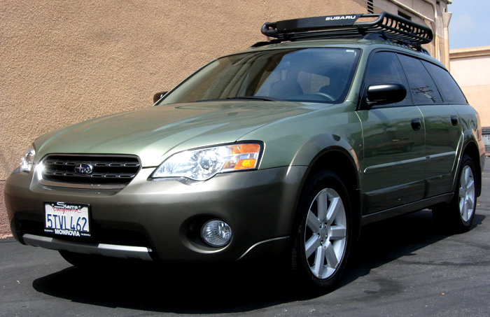 D Rola Cargo Basket Uber Cheap Suby on Green Subaru Outback 2005