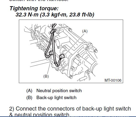 2008 Mt Back Up Lights Not Working Subaru Outback Rhsubaruoutbackorg: 2006 Subaru Outback Reverse Light Switch Location At Gmaili.net
