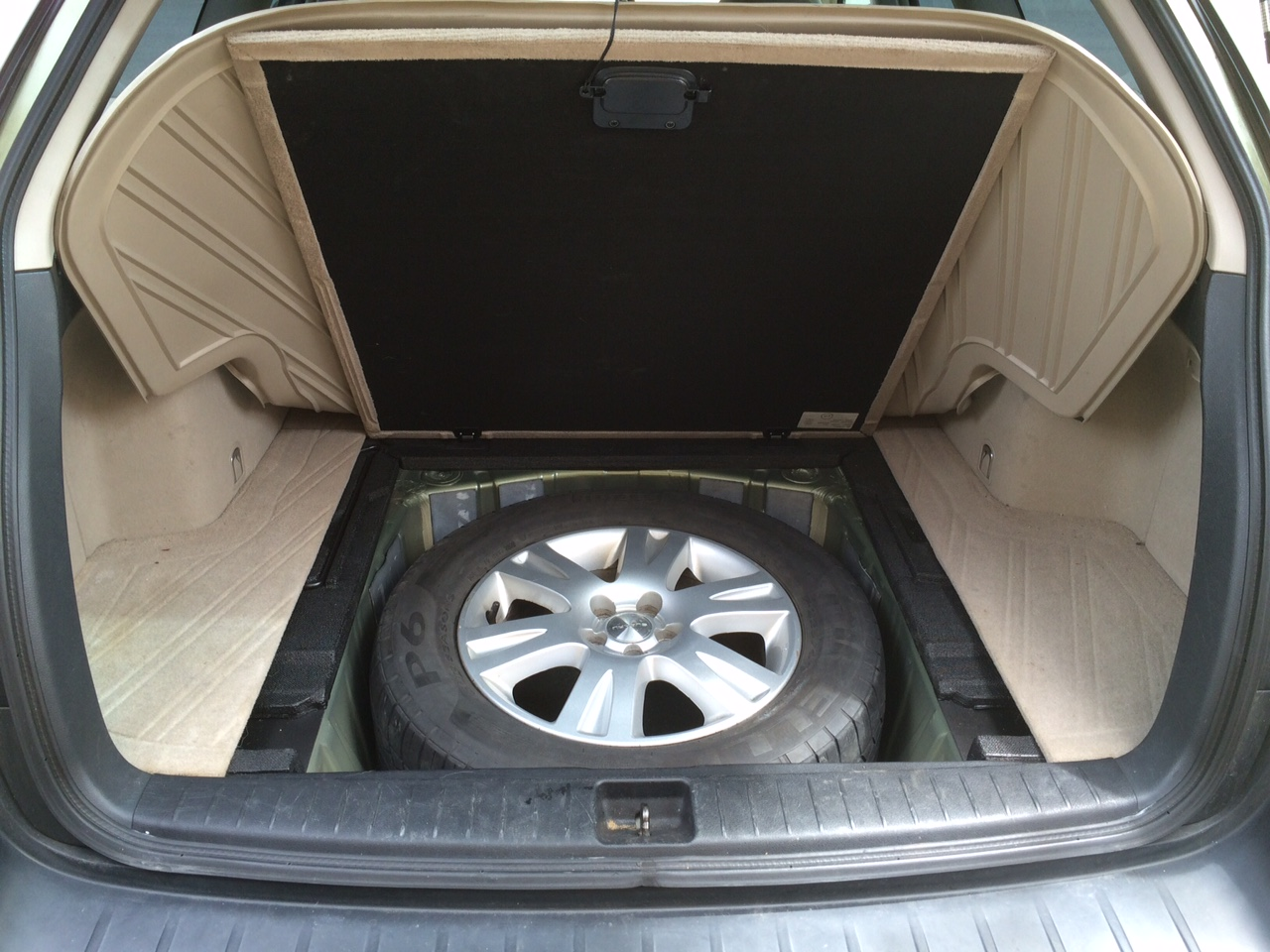 Full Size spare , 2005 2.5i - fits in rear storage fully inflated ...