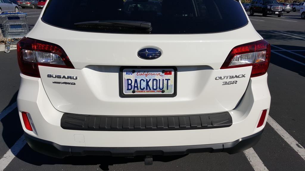Custom Frames/Plates - Subaru Outback - Subaru Outback Forums
