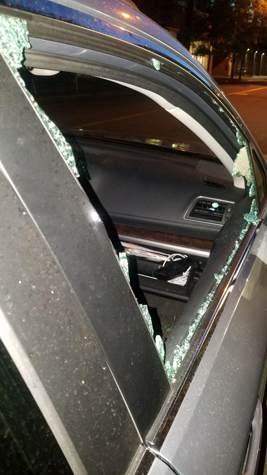 Car Broken Into Door Damage Subaru Outback Subaru
