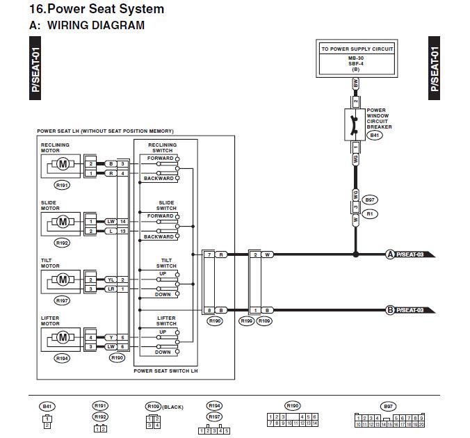 Window Control Wiring Diagram 2003 Subaru Forester